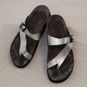 Mephisto Grey/Silver Strap and Buckle Sandal